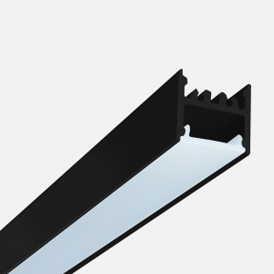 Microfile system empty ceiling/trimless recessed profile