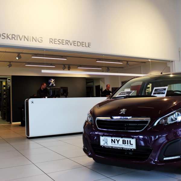 project: showroom Peugeot - Koege Denmark